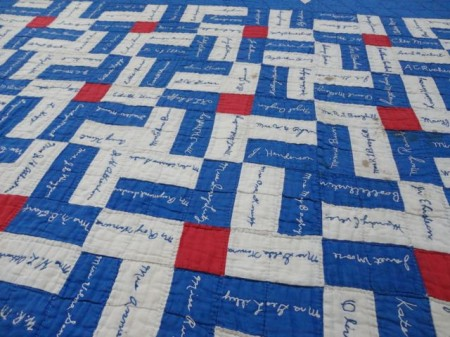 vintage quilts : quilting signature tags - Adamdwight.com